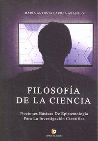FILOSOFÍA DE LA CIENCIA