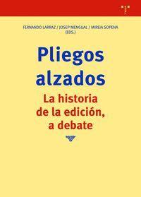 PLIEGOS ALZADOS