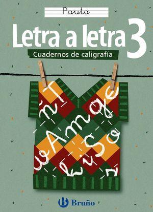 CALIGRAFÍA LETRA A LETRA PAUTA 3