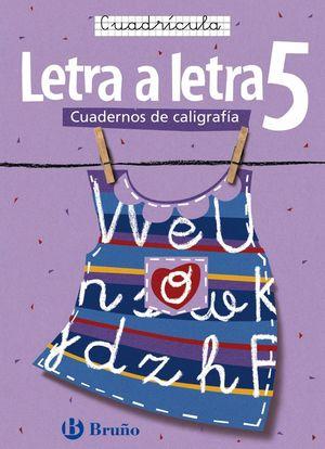 CALIGRAFÍA LETRA A LETRA CUADRÍCULA 5