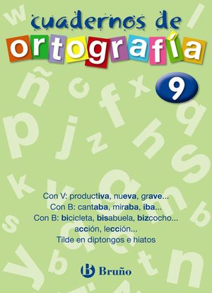 CUADERNOS DE ORTOGRAFIA 9
