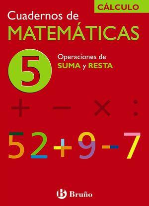 CUADERNO MATEMATICAS 5