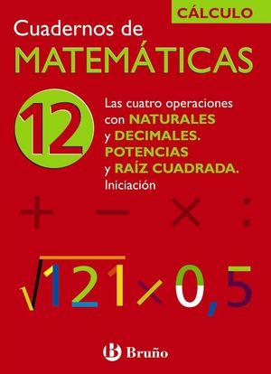 CUADERNO MATEMATICAS 12