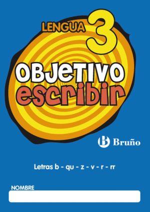 OBJETIVO ESCRIBIR Nº3 LENGUA