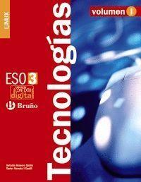 CONTEXTODIGITAL TECNOLOGÍAS 3 ESO LINUX - 3 VOLÚMENES