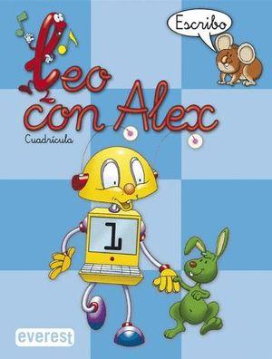 LEO CON ALEX 1 ESCRIBO CUADRICULA 2004