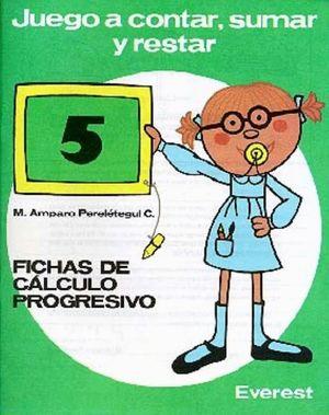 JUEGO A CONTAR SUMAR Y RESTAR Nº5 (VERDE)