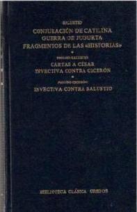 CONJURACION CATILINA / GUERRA YUGURTA / FRAGMENTOS HISTORIAS (T)