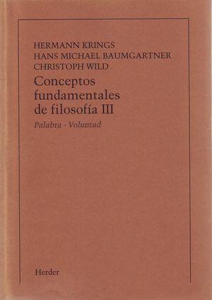 CONCEPTOS FUNDAMENTALES DE FILOSOFIA, TOMO III