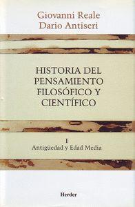 HISTORIA DEL PENSAMIENTO FILOSOFICO Y CIENTIFICO VOL.1