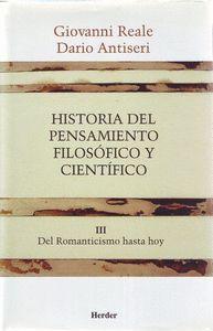 HISTORIA DEL PENSAMIENTO FILOSOFICO Y CIENTIFICO III