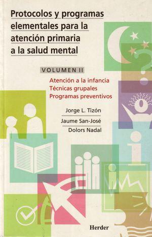 PROTOCOLOS PROGRAMAS II ATENCION PRIMARIA SALUD MENTAL