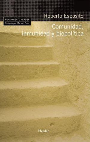 COMUNIDAD, INMUNIDAD Y BIOPOLITICA
