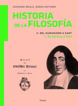 HISTORIA DE LA FILOSOFIA II.2 DEL HUMANISMO A KANT/DE SPINOZA KAN