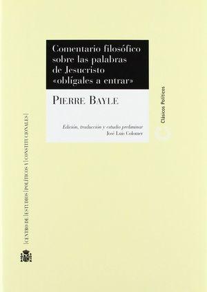 COMENTARIO FILOSÓFICO SOBRE LAS PALABRAS DE JESUCRISTO