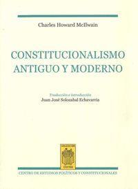 CONSTITUCIONALISMO ANTIGUO Y MODERNO