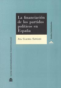 LA FINANCIACION DE LOS PARTIDOS POLITICOS EN ESPAÑA