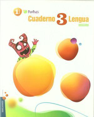 CUADERNO 3 DE LENGUA (CUADRICULA) 1º PRIMARIA