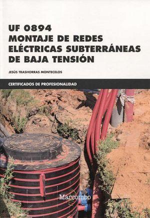 MONTAJE DE REDES ELECTRICAS SUBTERRANEAS DE BAJA TENSION