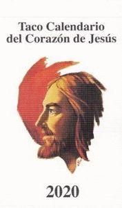 TACO CALENDARIO CORAZON DE JESUS 2020 BOLSILLO (SIN IMÁN)