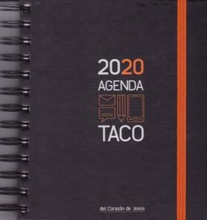 AGENDA TACO CORAZON DE JESUS 2020 A5 (GOMA NARANJA)