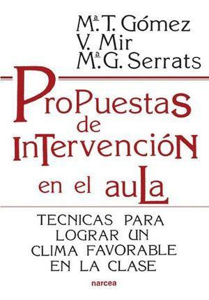 PROPUESTAS DE INTERVENCION EN EL AULA