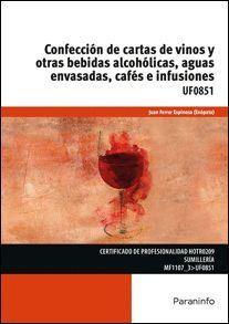 CONFECCION DE CARTAS DE VINOS Y OTRAS BEBIDAS ALCOHOLICA AGUAS