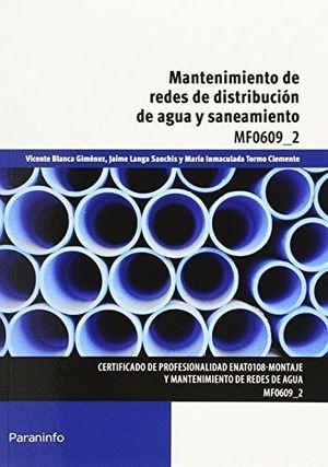 MANTENIMIENTO DE REDES DE DISTRIBUCION DE AGUA Y SANEAMIENTO