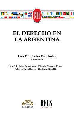 EL DERECHO EN LA ARGENTINA