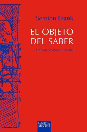 EL OBJETO DEL SABER
