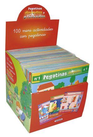 ESTUCHE 100 MINI ACTIVIDADES CON PEGATINAS PLATEADAS (50 TÍTULOS)
