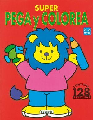 SUPER PEGA Y COLOREA CONTIENE 128 PEGATINAS