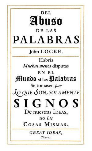 DEL ABUSO DE LAS PALABRAS
