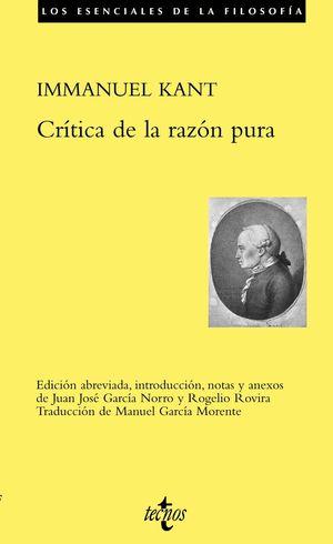 CRITICA DE LA RAZON PURA (ED.ABREVIADA)