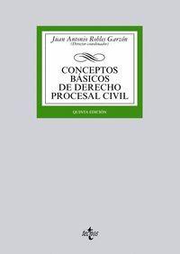 CONCEPTOS BASICOS DE DERECHO PROCESAL CIVIL 5ª EDICION
