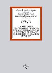 MATERIALES PRÁCTICOS DE DERECHO DE LA SEGURIDAD SOCIAL ADAPTADOS AL ESPACIO EURO