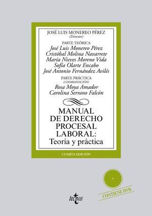 MANUAL DE DERECHO PROCESAL LABORAL: TEORIA Y PRACTICA + DVD