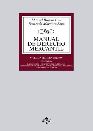 MANUAL DE DERECHO MERCANTIL VOL.I 2014