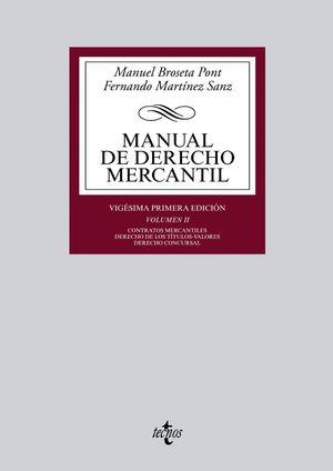 MANUAL DE DERECHO MERCANTIL VOL.II 2014