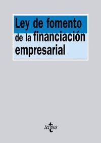 LEY DE FOMENTO DE LA FINANCIACION EMPRESARIAL