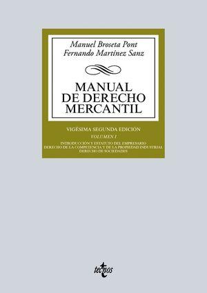 MANUAL DE DERECHO MERCANTIL VOL.I 2015 12ª.ED.