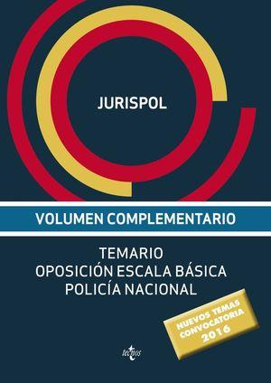 VOLUMEN COMPLEMENTARIO POLICIA NACIONAL ESCALA BASICA 2016
