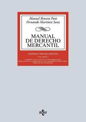MANUAL DE DERECHO MERCANTIL VOL.I