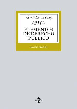 ELEMENTOS DE DERECHO PUBLICO 9ªED. 2016
