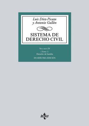 SISTEMA DE DERECHO CIVIL VOLUMEN IV (TOMO 1) 12ªED.2018