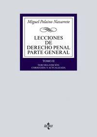 LECCIONES DE DERECHO PENAL PARTE GENERAL TOMO II