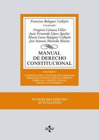 MANUAL DERECHO CONSTITUCIONAL VOL.I (ANTIGUA EDICION)