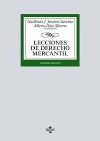 LECCIONES DE DERECHO MERCANTIL 20ªED. 2017
