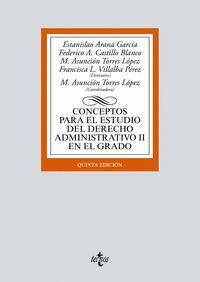 CONCEPTOS PARA EL ESTUDIO DEL DERECHO ADMINISTRATIVO II