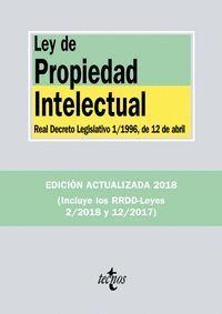 LEY DE PROPIEDAD INTELECTUAL (2018)